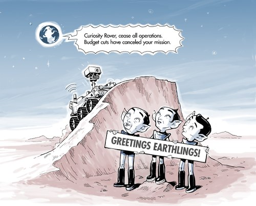 Curiosity cartoon